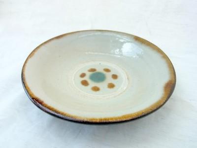 横田 皿4.5寸 印花1