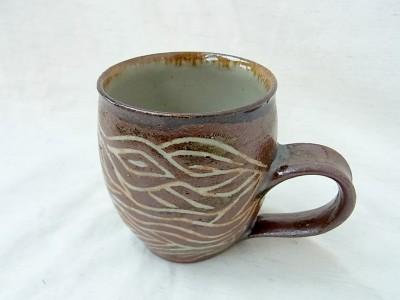 江口 マグカップ 大 線彫