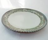 o-gusu 皿6寸 緑釉唐草