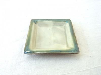 風香原 角皿小 緑