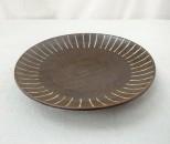 かねき 皿6寸 象嵌 線
