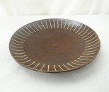 かねき 皿8寸 象嵌 線