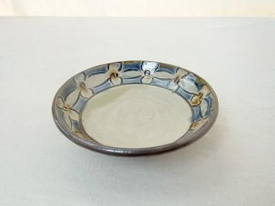 玉城 皿3.5寸 輪花