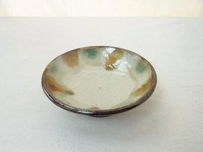 玉城 皿3.5寸 三彩