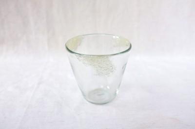 彩砂 三つ玉グラス 泡