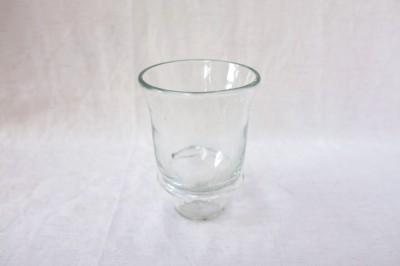 彩砂 つば付グラス クリア