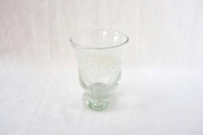 彩砂 うす泡台付グラス