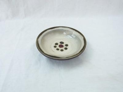 横田 縁平皿4寸 緑印花