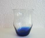 彩砂 くびれグラス 底青
