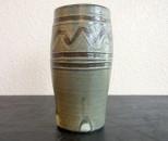 青陶 花瓶 小