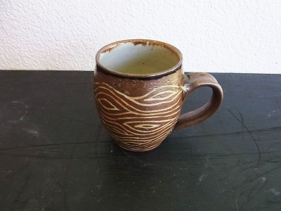 江口 マグカップ大 線彫