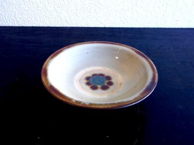 横田 ふち平皿5寸 印花
