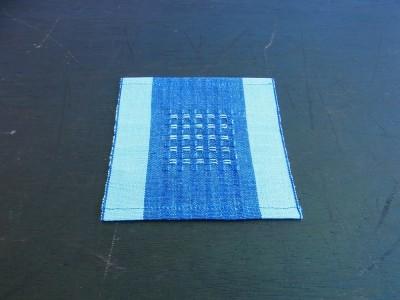 首里織 コースター 花織藍
