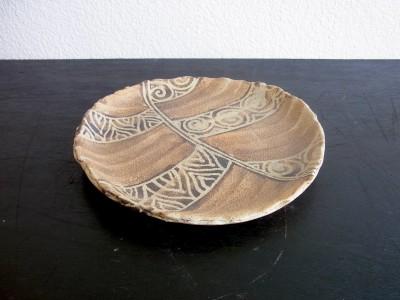 與那 アフリカン丸皿7寸