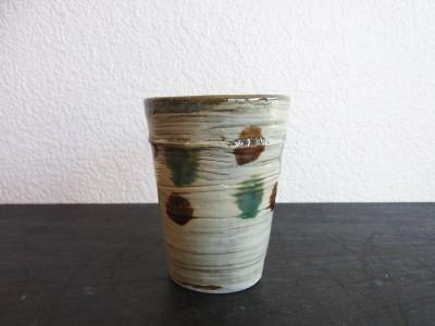 茂生 陶カップ ニ彩