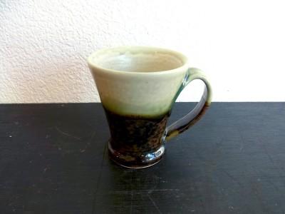 茂生 マグカップ 緑掛け