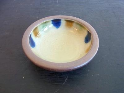 茂生 まんじゅう皿3寸 三彩