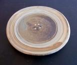 茂生 平皿7寸 緑刷毛目 印花