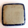 かねき 角皿 コバルト刷毛目