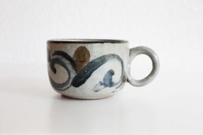 青陶舎 スープカップ 角 コバルト