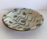 風香原 皿7寸 指掻き緑ドット