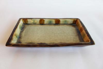 玉城 型皿7寸 三彩