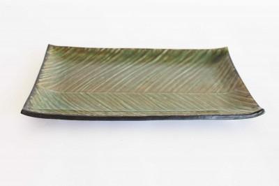 井口 串刺盛角皿 緑