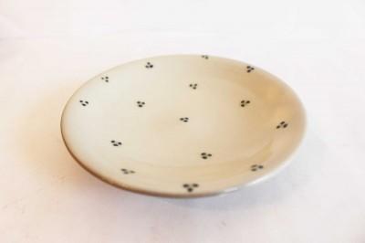 o-gusuya 皿5寸 呉須緑ドット