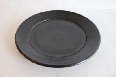 十鶴 リム皿7寸 黒