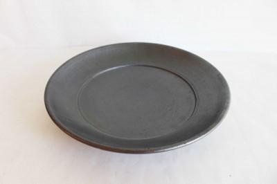 十鶴 リム皿8.5寸 黒