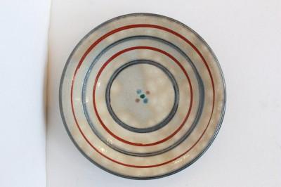 風香原 皿6寸 赤