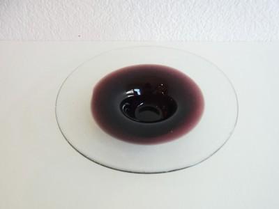 彩砂 円すい皿 中紫