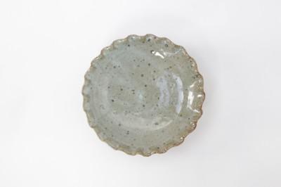 西持田 花型皿4.5寸 白