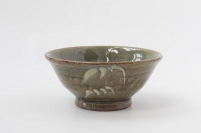 西持田茶碗4寸呉須梅