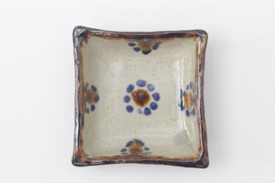 玉城正方角皿3寸印花